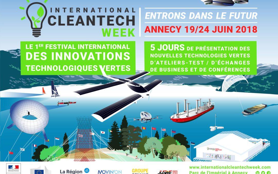 Conférence «Entrons dans la boucle de l'économie circulaire» à l'International Clean Tech Week d'Annecy